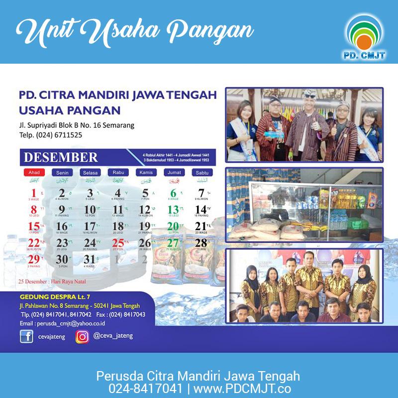 perusda-cmjt-kalender-2019-kegiatan-dan-unit-usaha-pangan-ceva-jateng